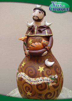 Grande trabalho do conterrâneo MADU LOPES; http://www.vivaocharque.com.br/artesanato/porongo-madu