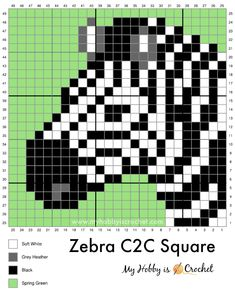 Crochet C2c Pattern, Crochet Squares Afghan, Crochet Blanket Patterns, Free Crochet, Cross Stitch Charts, Cross Stitch Patterns, Cross Stitching, Cross Stitch Embroidery, Manta Animal