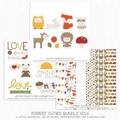 Forest Cuties Bundle and a CU Freebie! » MissTiina.com {Blog}