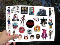 Stranger Things Set of vinyl stickers tv show stickers on