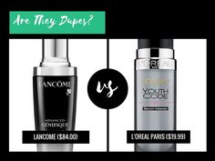 Is L'Oreal Paris Youth Code Serum Intense Daily Treatment a dupe for Lancome Advanced Genifique Youth Activating Concentrate?