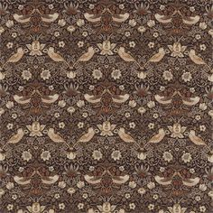 Made to Measure Curtains, Curtains Made For Free, Sanderson Fabrics, Harlequin Fabrics, Morris Fabrics. > Morris & Co Strawberry Thief Fabric 220315 Craftsman Fabric, Painted Rug, Gold Fabric, Fabric Art, William Morris, Subtle Textures, Curtains With Blinds, Designer Wallpaper, Wallpaper Designs