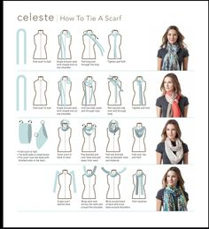 scarf styling knots for every neckline cassie gets dressed up rh pinterest com Scarf Tying Printable Flyer Scarf Tying Printable Flyer