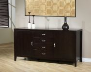 Enhance your dining experience with this stylish Axium buffet. The sturdy buffet is made of rubberwood with a gorgeous finish.