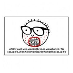 Jack the nerd Braces Sticker - David and Goliath Tees
