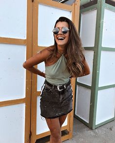 T-shirt Outfit Summer Casual 56 New Ideas Girly Outfits, Casual Summer Outfits, Mode Outfits, Spring Outfits, Trendy Outfits, Fashion Outfits, Outfit Summer, Looks Style, Looks Cool