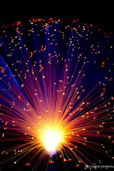 Fireworks? Nay. That's LED lights shining up through fiber optics, baybay! Beautiful, huh. Here's all ours - check 'em out: http://www.flashingblinkylights.com/light-up-products/led-party-centerpieces.html?utm_source=Pinterest&utm_medium=Fiber%20Optic%20Centerpieces&utm_campaign=4th%20of%20July%20board