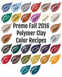 Premo Fall 2016 Polymer Clay Color Recipe Ebook by craftsbychris