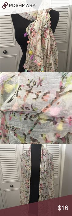 Betsey Johnson Scarf NWT BJ xox Signature tassel scarf, wrap or cover. Sold out. Betsey Johnson Accessories Scarves & Wraps