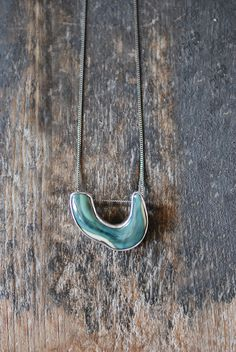 August Crescent Moon Pendant by @Dolly Bird on Etsy, $175.00