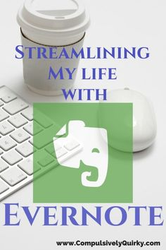 Streamlining My Life with Evernote on www.CompulsivelyQuirky.com ~ Create digital notebooks. Eliminate paper. The trees will hug you!