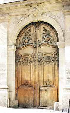 Beautiful Carved Arch Doors
