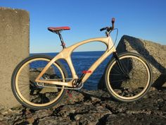 Wooden Bike by Nic Roberts #wood #bicycle