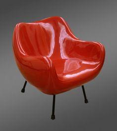 Fotel RM 58 (laminat epoksydowy, metal), Roman Modzelewski, 1958.