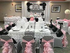 La Tonya M's Birthday / - Photo Gallery at Catch My Party Chanel Birthday Party, Paris Themed Birthday Party, Chanel Party, Birthday Party For Teens, 50th Party, Spa Birthday, Party Wedding, Birthday Ideas, Paris Party Decorations