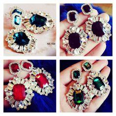Party Wear Gorgeous Stone Earrings @fuschianet.accessories