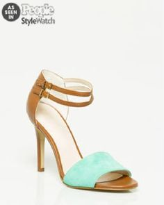As Seen In People StyleWatch, Suede Ankle Cuff Sandal