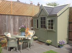 Painted Garden Sheds, Cottage Garden Sheds, Garden Cabins, Old Cottage, Backyard Cabin, Backyard Storage Sheds, Garden Storage Shed, Backyard Sheds, Shed Design