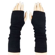 Black Ladies Cute Fingerless Winter Classic Warm Gloves ($6.77) ❤ liked on Polyvore featuring accessories, gloves, black, blablabla, black gloves, black fingerless gloves and fingerless gloves