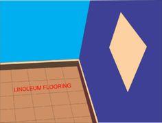 Installing glue linoleum flooring