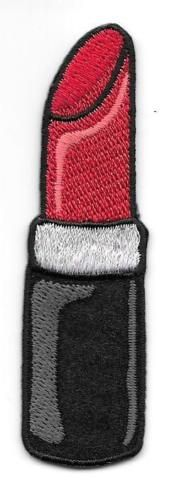 7-8-x-3-1-8-Red-Black-Lipstick-Cosmetic-Embroidery-Patch