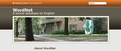 http://wordnet.princeton.edu – WordNet is a lexical database for the English language. It groups English words into sets of synonyms called synsets, provides short definitions and usage examples, and records a number of relations among these synonym sets or their members. WordNet can thus be seen as a combination of dictionary and thesaurus.