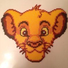 Simba The Lion KIng hama beads by vixxi89 chsnge to cross stitch