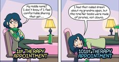 Your Therapy Appointment vs. Your Therapy Appointment College Quotes, College Humor, Transferring College, Superhero Texts, Anxiety Cat, Best Quotes, Inspiring Quotes, Funny Cute, Funny Posts