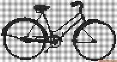 véhicule - transport - vélo - point de croix - cross stitch - Blog : http://broderiemimie44.canalblog.com/