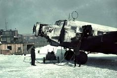 Refuelling a Junkers Ju52 3/m on Ostfront