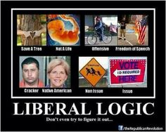 liberal logic // I try not to post about politics, but this is so spot on. And I realize republicans are odd in their logic also Liberal Logic, Stupid Liberals, Liberal Hypocrisy, Raised Right, Let Freedom Ring, Conservative Politics, Freedom Of Speech, Republican Party, Note