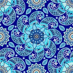 A2938矢量蓝色民族风格佩斯利火腿纹四方连续纹样花纹 AI设计素材-淘宝网