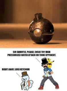 Training Pokemon like a sir #pokemonmemes