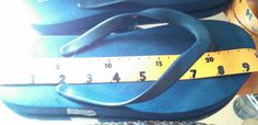 length detail-Old Navy dark blue flip flops