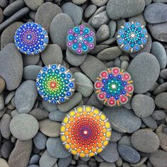 Mandala stones visit where they were found #dotillism #elspethmclean #mandala…