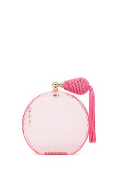 Perfume bottle clutch
