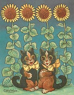 Louis Wain - I'm having a bit of a Louis Wain moment. They remind me of my mom who collected his work.