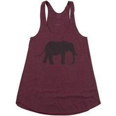 Cinder + Salt Burgundy Elephant Tank (425 UAH) ❤ liked on Polyvore  featuring tops 4356d672cb