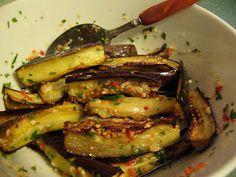 Audrey Needs More Wooden Spoons: Marinated Eggplant Antipasto Quick Recipes, Quick Meals, Veggie Recipes, Real Food Recipes, Cooking Recipes, Healthy Recipes, Healthy Meals, Delicious Recipes, Healthy Food