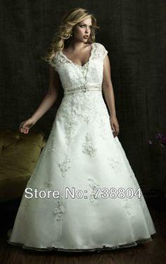 2013Free Shipping Ball Gown Plus size Taffeta Zipper Appliques Chapel train Wedding Dress/ Ball Gown dress Custom-made