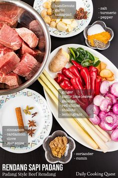 Recreate the world's most delicious food (beef rendang) in your kitchen. Now you don't have to visit Indonesia or Malaysia to sample authentic rendang. Chinese Soup Recipes, Asian Recipes, Beef Recipes, Cooking Recipes, Cooking Tips, Indonesian Cuisine, Indonesian Recipes, Malay Food, Caramelized Bacon