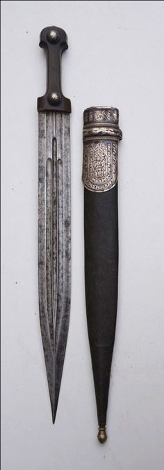 Caucasian / Circassian kindjal dagger. Кавказский кинжал. Swords And Daggers, Knives And Swords, Diesel Punk, Tactical Pocket Knife, Pocket Knives, Vikings, Cyberpunk, Dagger Knife, Best Pocket Knife