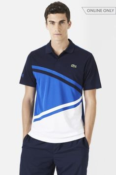 04a2046627c67 Lacoste Short Sleeve Ultra Dry Diagonal Stripe Color Block Polo   Polo  Shirts It s Raining