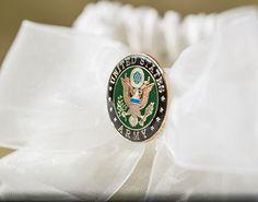 Military Wedding Garter - Air Force - Navy - Army - Marines