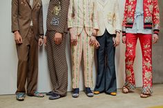 Backstage at Gucci Spring 2016 Menswear, shot by Virginia Arcaro.