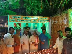 Participated in lightening of 1008 Diwali Diyas to pay Tributes to Martyr Soldiers along with Shri. Raja Singh, MLA at Goshamahal Assembly constituency, #Hyderabad on 30/10/2016.
