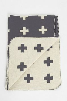 Pia Wallen Cross Throw Blanket