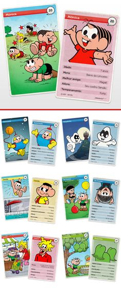 Virtual Collectibles Cards with curiosities about Monica and Friends characters - 2013 © MSP - Brazil || Cards Virtuais Colecionáveis. © MSP - Brasil 2013.