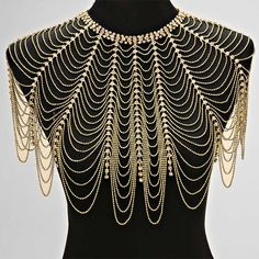 Crystal Draped Shoulder Necklace