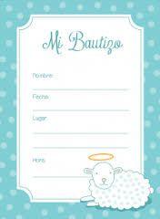 resultado de imagen para descargar invitaciones de bautizo editables gratis